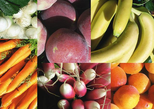 Une large sélection de fruits et légumes de qualité